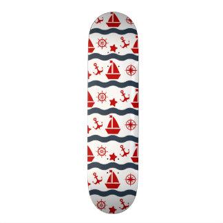Cute Maritime Pattern 21.3 Cm Mini Skateboard Deck