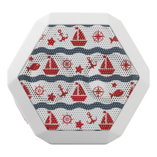 Cute Maritime Pattern White Bluetooth Speaker