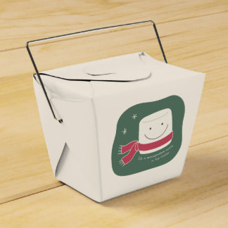Cute Marshmallow Christmas Cookie Box Party Favour Boxes