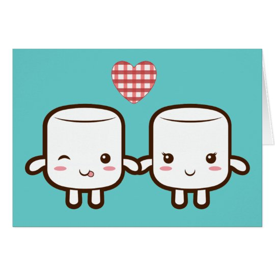 Cute Marshmallow couple Card