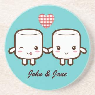 Cute Marshmallow couple Coasters