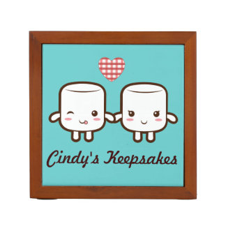 Cute Marshmallow couple Desk Organizers