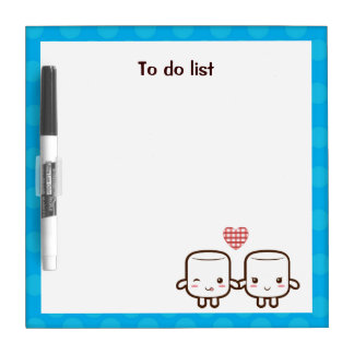 Cute Marshmallow couple Dry-Erase Boards