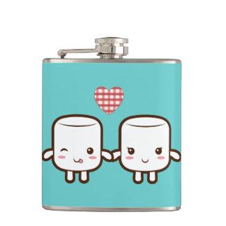 Cute Marshmallow couple Flasks