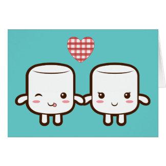 Cute Marshmallow couple Greeting Card