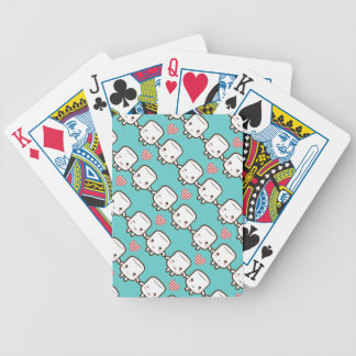 Cute Marshmallow couple Bicycle Poker Deck
