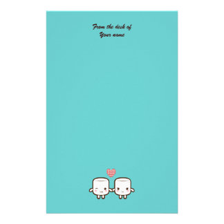 Cute Marshmallow couple Custom Stationery