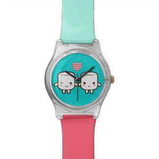 Cute Marshmallow couple Watch