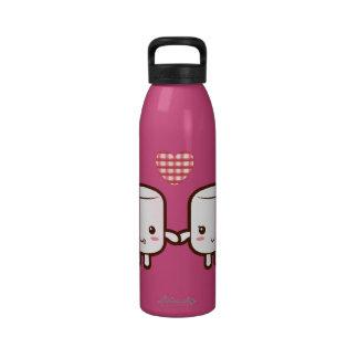 Cute Marshmallow couple Water Bottle