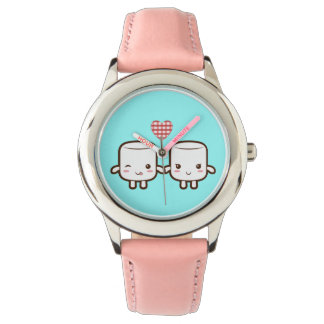 Cute Marshmallow couple Wristwatches