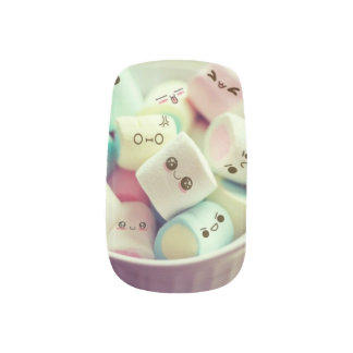 Cute Marshmallow Nail Art