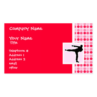 Cute Martial Arts Pack Of Standard Business Cards