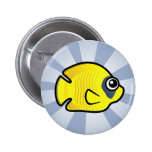 Cute Masked Butterflyfish Badges