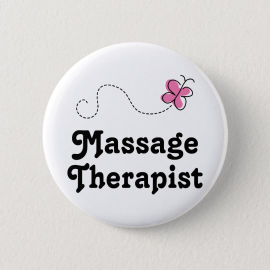 Cute Massage Therapist 6 Cm Round Badge