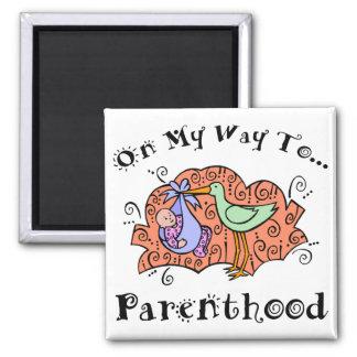 Cute Maternity Square Magnet