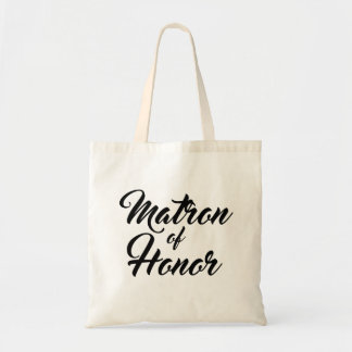 Cute Matron of Honor favor tote bag