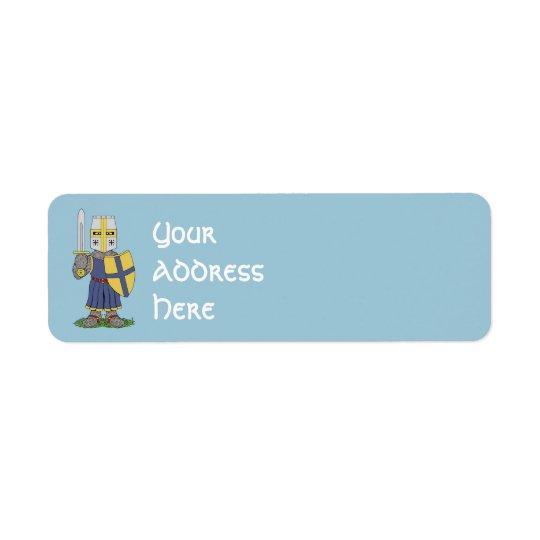 Cute Mediaeval Knight Return Address Label