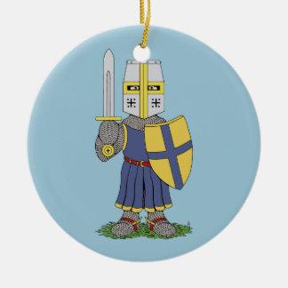 Cute Medieval Knight Christmas Ornament