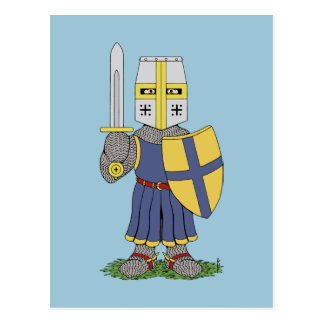 Cute Medieval Knight Postcard