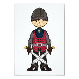 Cute Medieval Knight RSVP Card 9 Cm X 13 Cm Invitation Card