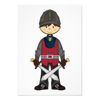 Cute Medieval Knight RSVP Card Custom Invites