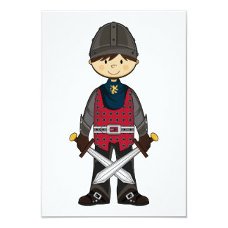 "Cute Medieval Knight RSVP Card 3.5"" X 5"" Invitation Card"