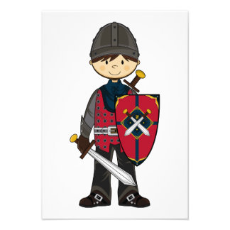 Cute Medieval Knight RSVP Card Announcements