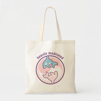 Cute Meditating Whales Tote Bag