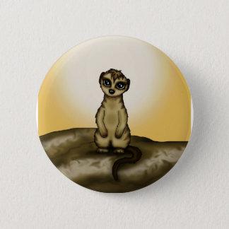 cute Meerkat 6 Cm Round Badge