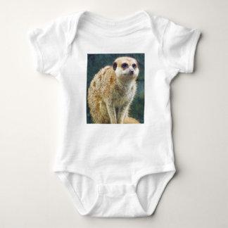 Cute Meerkat at Attention, Kansas City Zoo Baby Bodysuit