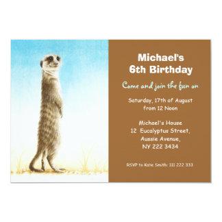 Cute Meerkat Birthday Party Invitation