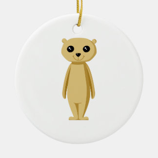 Cute Meerkat. Christmas Ornament