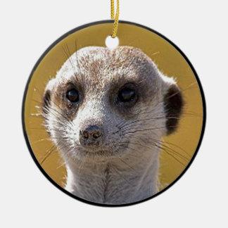 """""""Cute meerkat"""" Christmas Ornament"""
