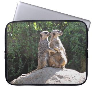 Cute Meerkat Couple on Rock Laptop Case