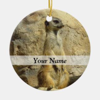 Cute meerkat photograph christmas ornament