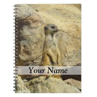 Cute meerkat photograph notebooks