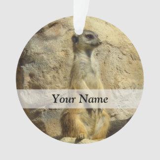 Cute meerkat photograph ornament