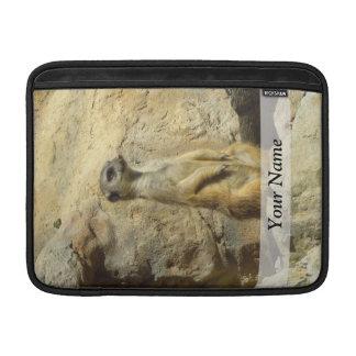 Cute meerkat photograph sleeve for MacBook air