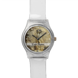 Cute meerkat photograph watch