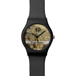 Cute meerkat photograph watch