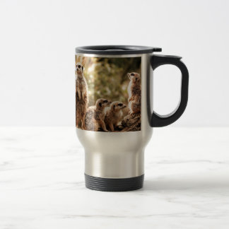 Cute Meerkats Stainless Steel Travel Mug