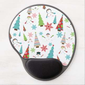 Cute Melting Snowman Funky Christmas Trees Gel Mouse Mats