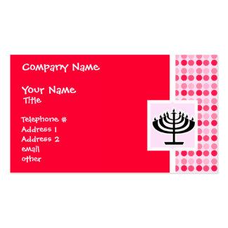 Cute Menorah Business Cards