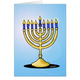 Cute Menorah Hanukkah Card