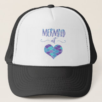 Cute Mermaid at Heart Trucker Hat