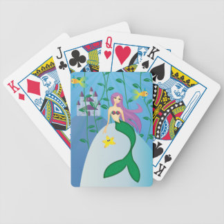 Cute Mermaid Bicycle Playing Cards