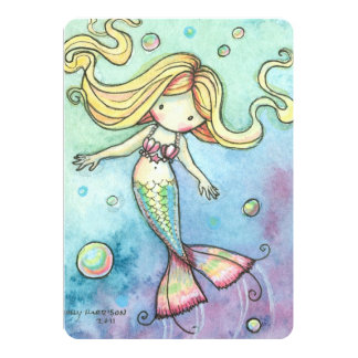 Cute Mermaid Birthday Party Invites for Girls