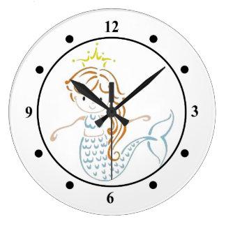 Cute Mermaid Clock