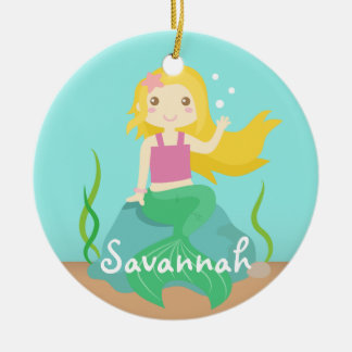 Cute Mermaid from the Ocean, For Girls Christmas Ornament