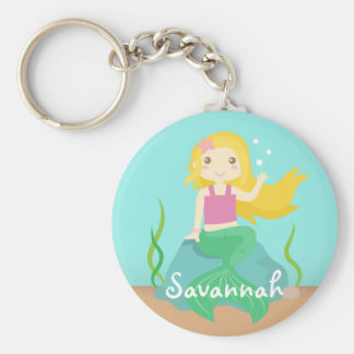 Cute Mermaid from the Ocean, For Girls Key Ring